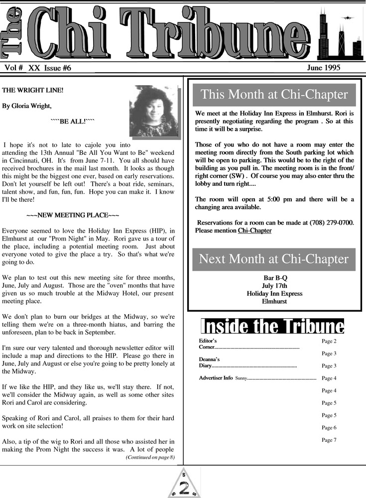 Download the full-sized PDF of The Chi Tribune Vol. 20 Iss. 06 (June, 1995)