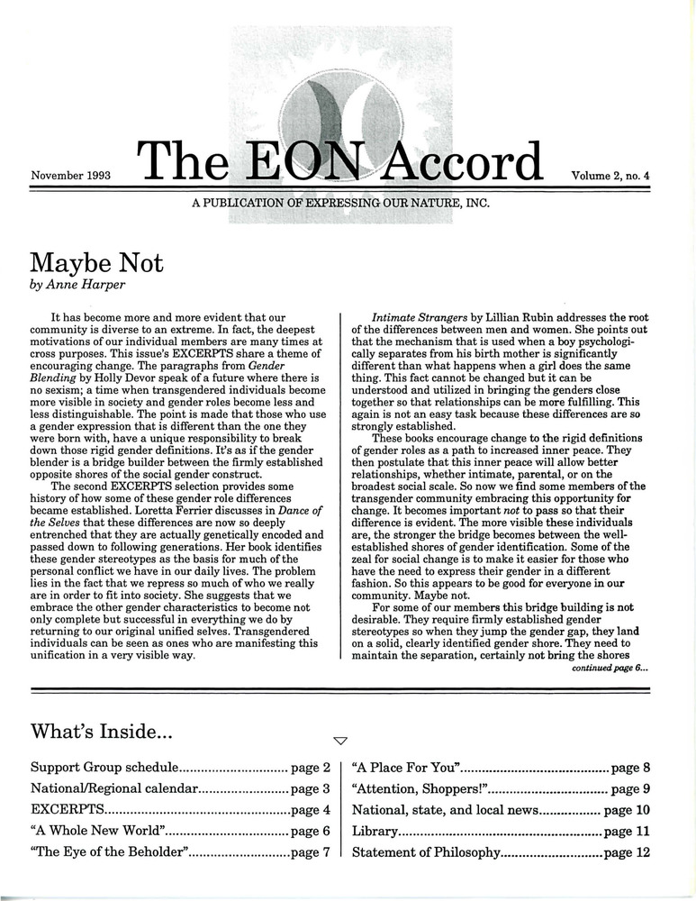 Download the full-sized PDF of The EON Accord Vol. 2 No. 4 (November 1993)