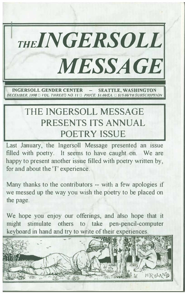 Download the full-sized PDF of The Ingersoll Message, Vol. 3 No. 11 (December, 1998)