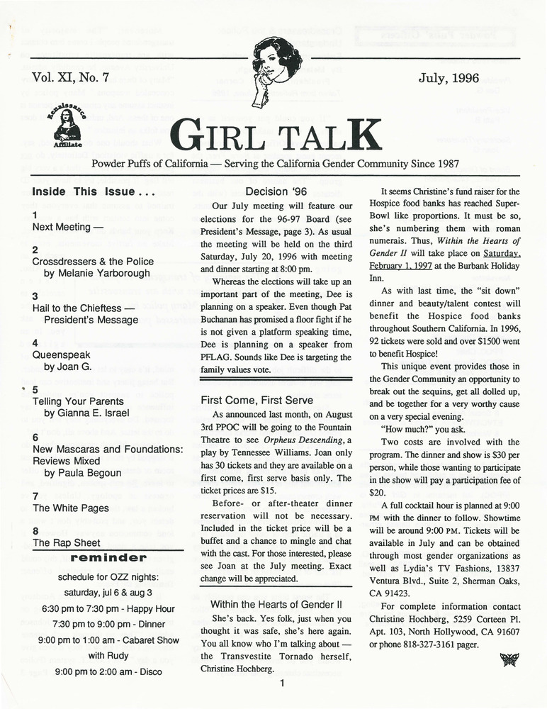 Download the full-sized PDF of Girl Talk, Vol. 11 No. 7 (July, 1996)
