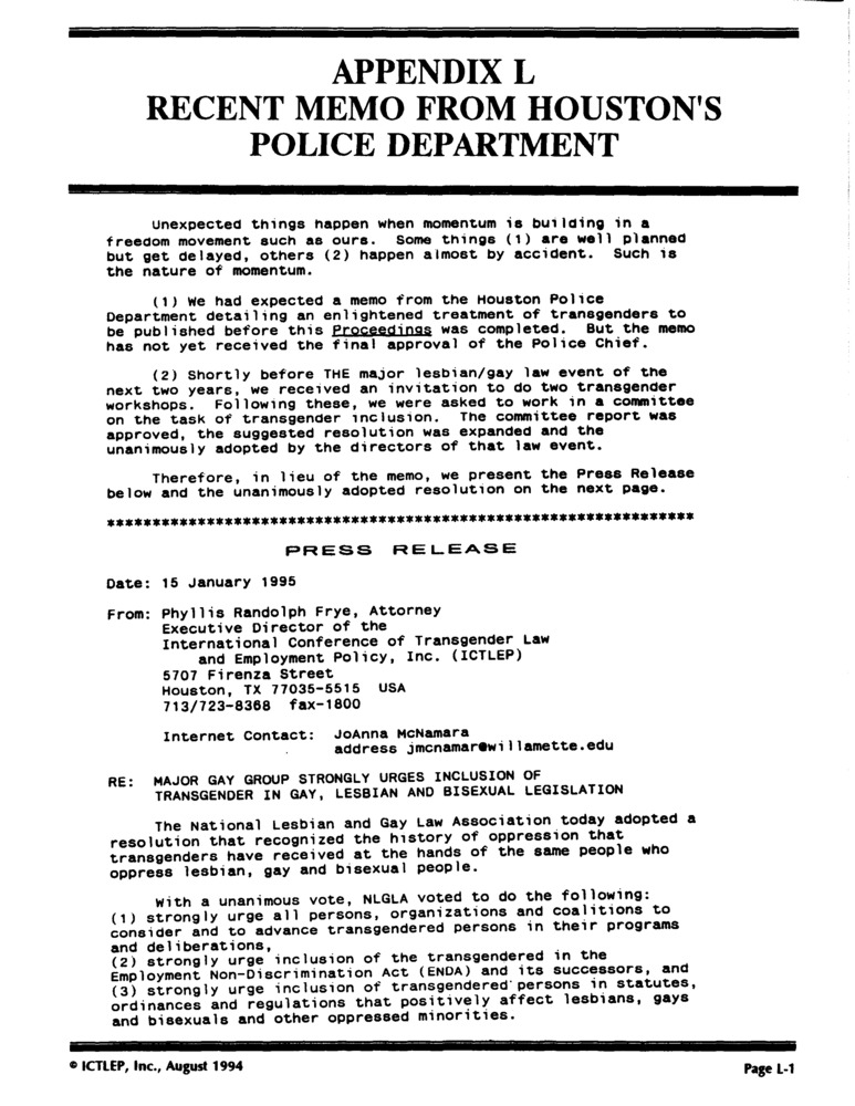 Download the full-sized PDF of Appendix L: Recent Memo from Houston's Police Department