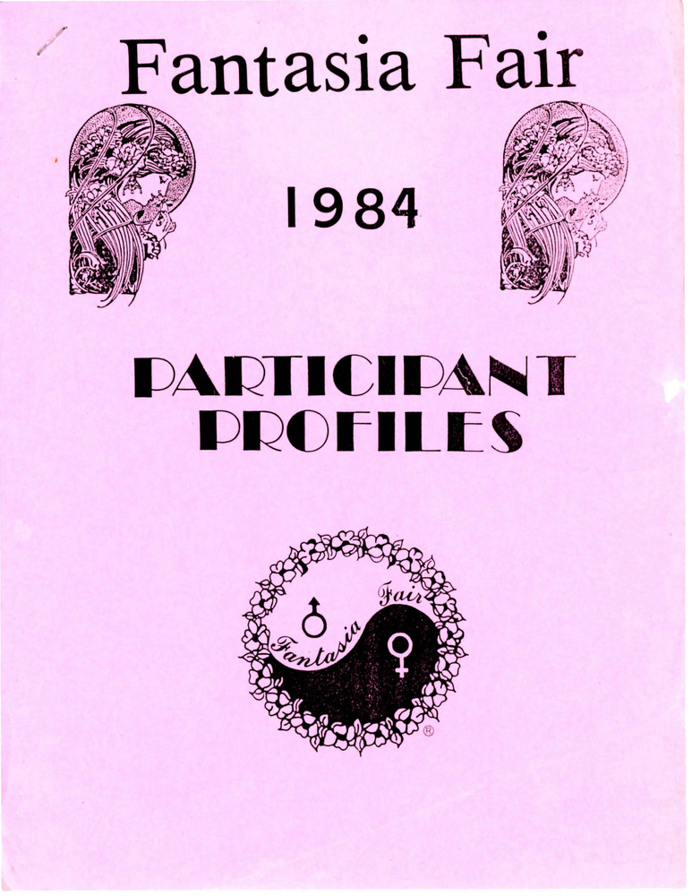 Download the full-sized PDF of Fantasia Fair 1984 Participant Profiles