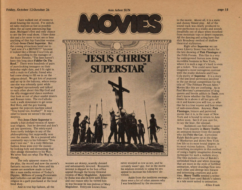 Download the full-sized image of Movies Reviews (October 15-26, 1973)