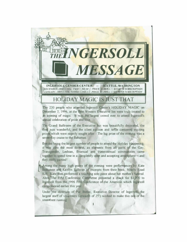 Download the full-sized PDF of The Ingersoll Message, Vol. 2 No. 10 & Vol. 3 No. 1 (December, 1996 & January, 1997)
