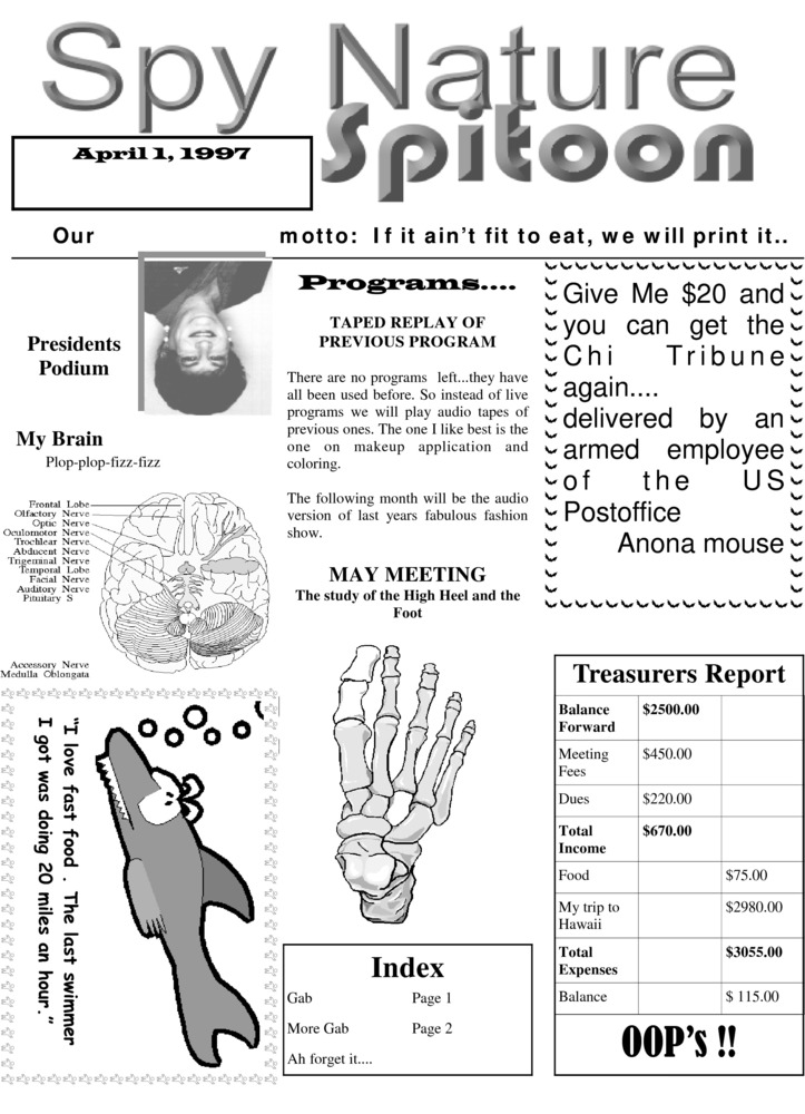 Download the full-sized PDF of Chi Chapter Tribune Vol. 36 Iss. 04 (April, 1997)
