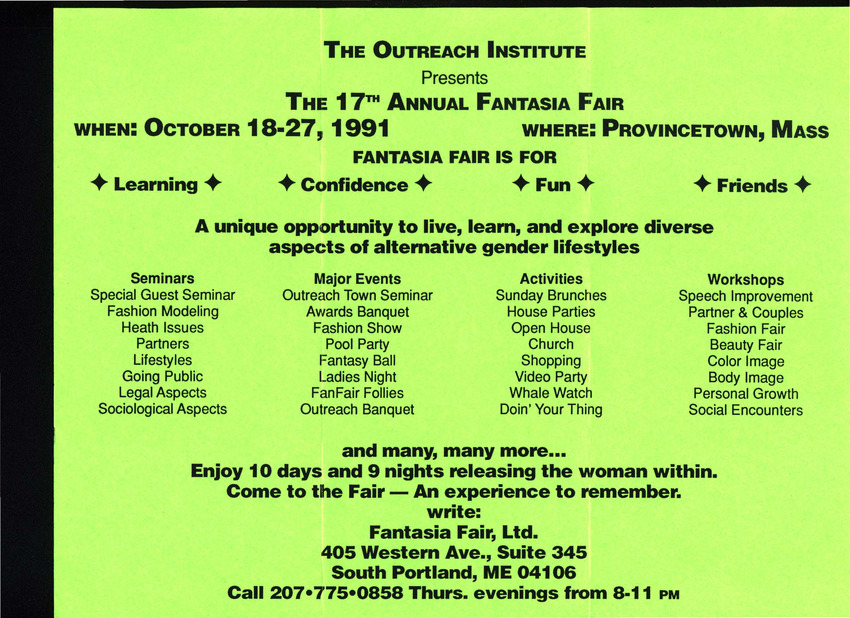 Download the full-sized PDF of 17th Annual Fantasia Fair Brochure (Oct. 18-27, 1991)