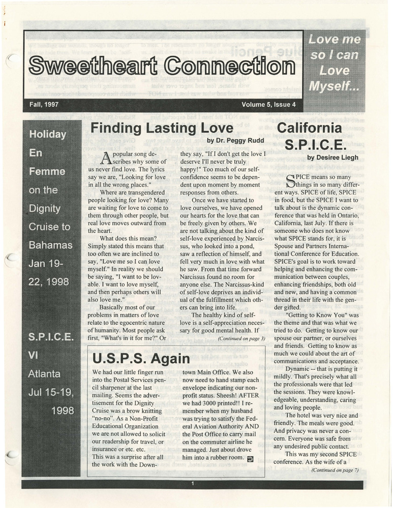 Download the full-sized PDF of The Sweetheart Connection Vol. 5 No. 4 (Fall 1997)