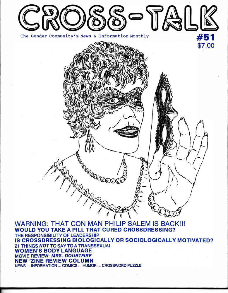 Download the full-sized PDF of Cross-Talk: The Transgender Community's News & Information Monthly, No. 51 (January, 1994)