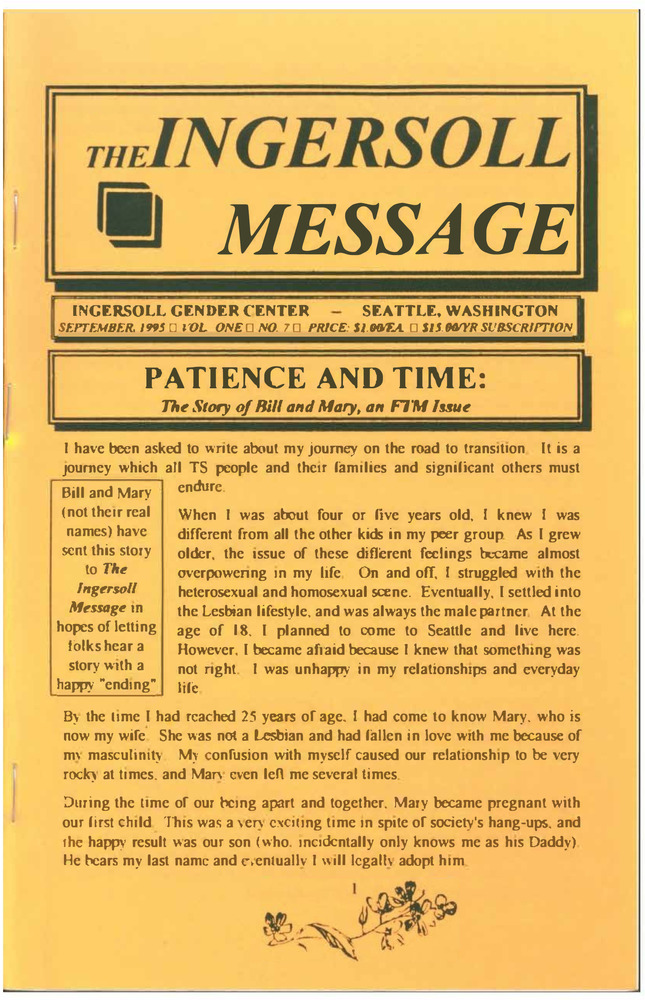 Download the full-sized PDF of The Ingersoll Message, Vol. 1 No. 7 (September, 1995)