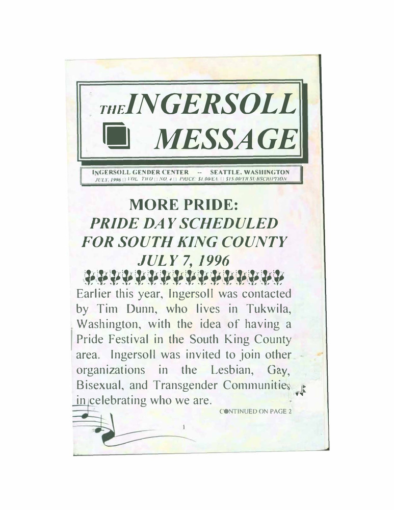 Download the full-sized PDF of The Ingersoll Message, Vol. 2 No. 4 (July, 1996)