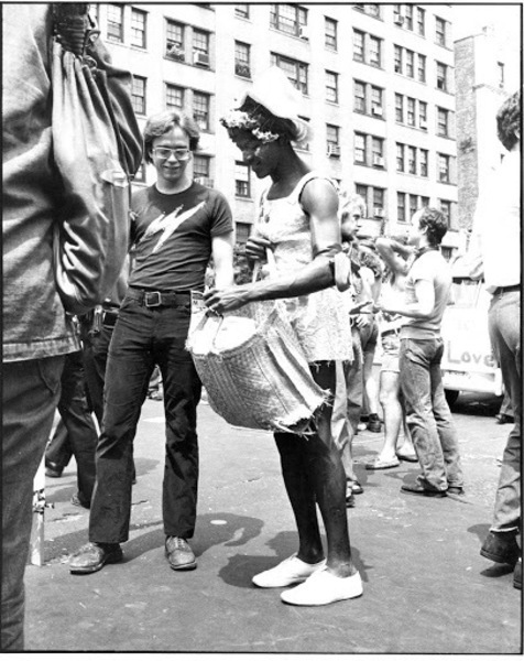 Download the full-sized image of Marsha P. Johnson at the Pride March, 1974