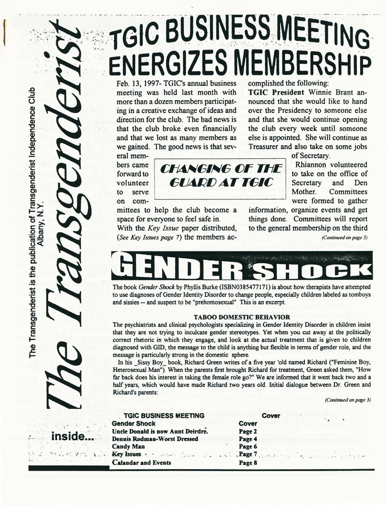 Download the full-sized PDF of The Transgenderist (March, 1997)