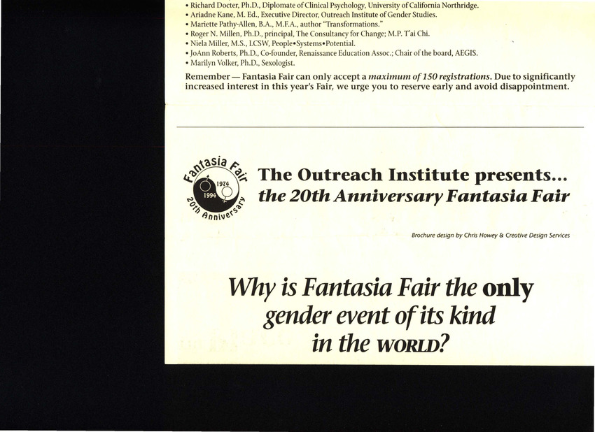 Download the full-sized PDF of Fantasia Fair Brochure (1994)
