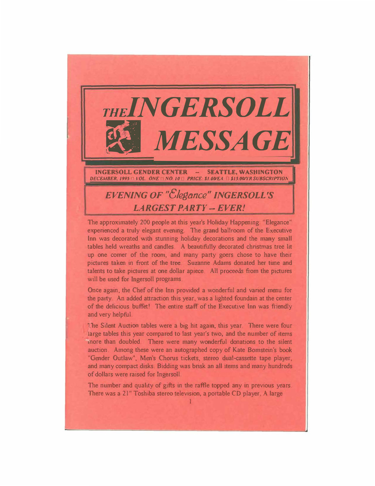 Download the full-sized PDF of The Ingersoll Message, Vol. 1 No. 10 (December, 1995)