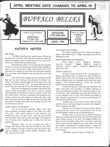 Download the full-sized image of Buffalo Belles Vol. 8 No. 4 (April, 1999)