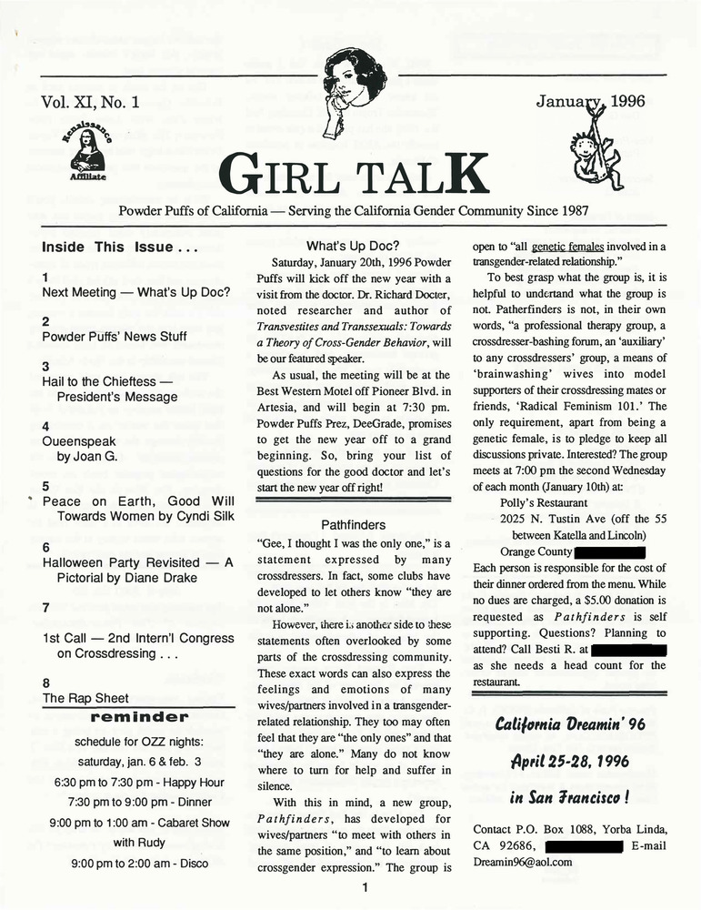 Download the full-sized PDF of Girl Talk, Vol. 11 No. 1 (January, 1996)