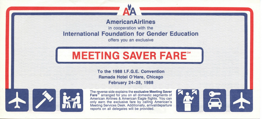 Download the full-sized PDF of American Airlines - I.F.G.E. Exclusive Meeting Saver Fare
