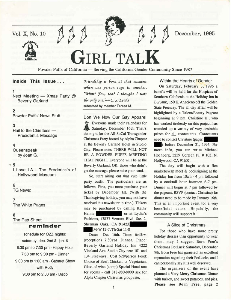 Download the full-sized PDF of Girl Talk, Vol. 10 No. 10 (December, 1995)