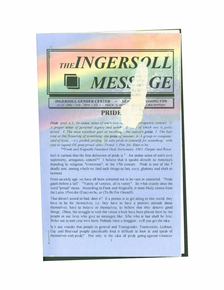 Download the full-sized PDF of The Ingersoll Message Vol.2 No.3 (June, 1996)