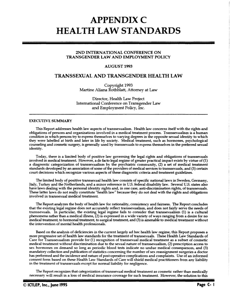 Download the full-sized PDF of Appendix C: Health Law Standards