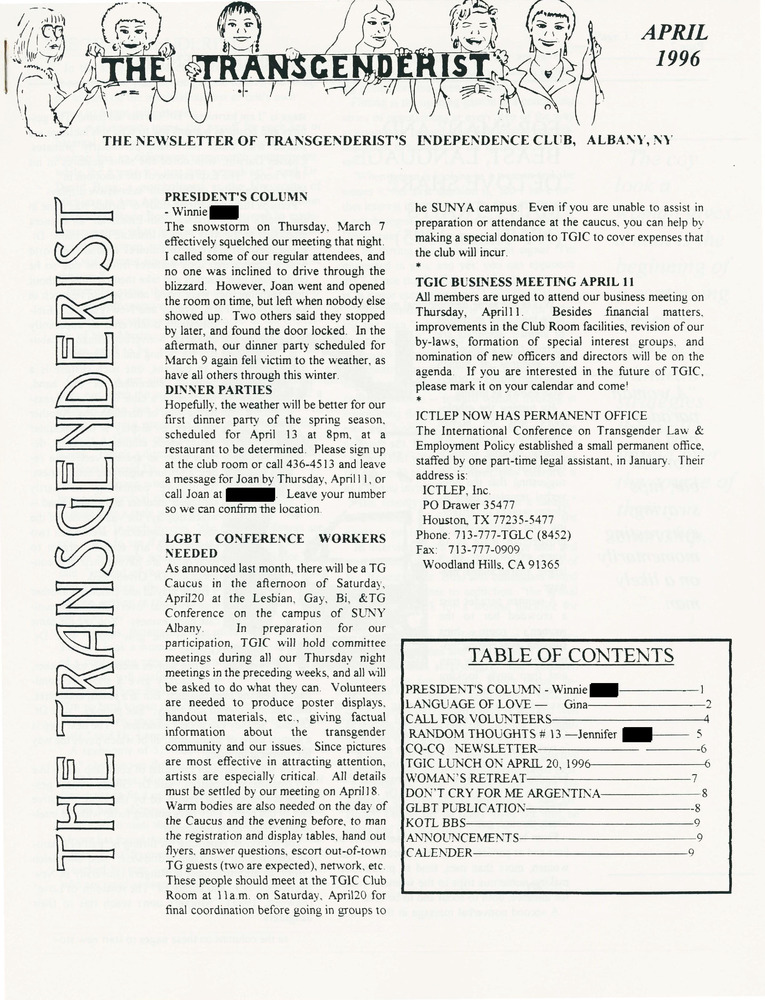 Download the full-sized PDF of The Transgenderist (April, 1996)