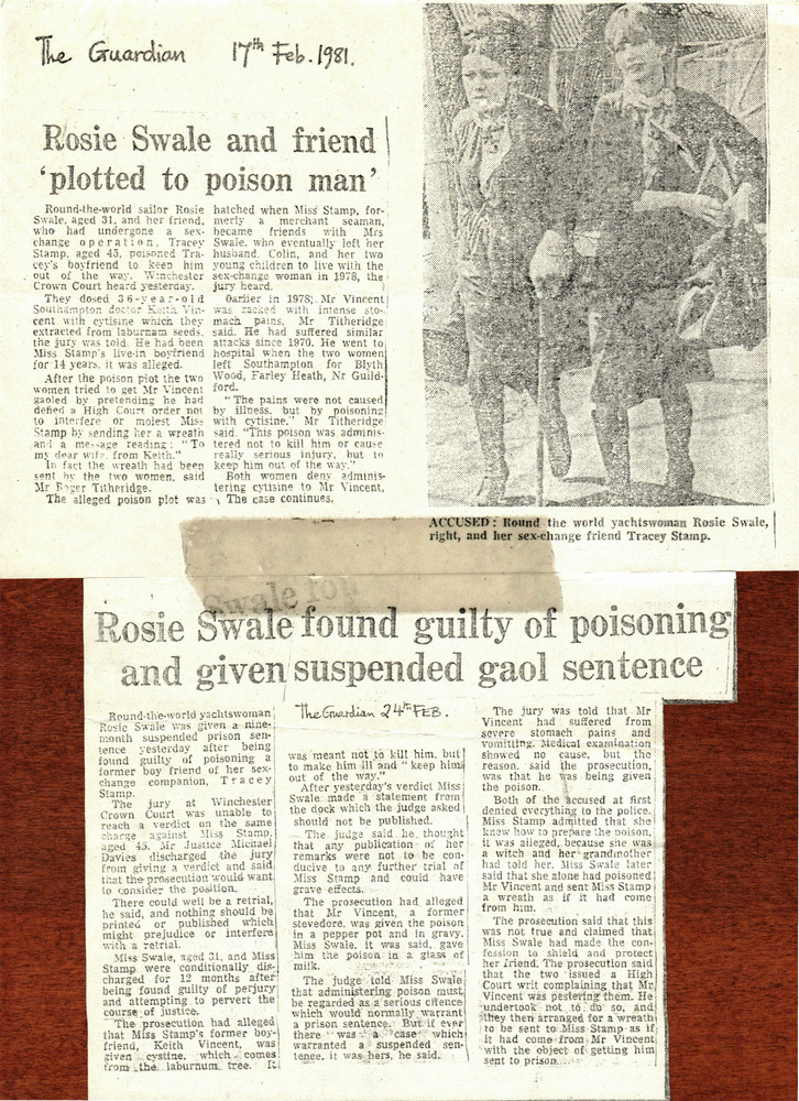 "Download the full-sized PDF of Rosie Swale and Friend ""Plotted to Poison Man"""