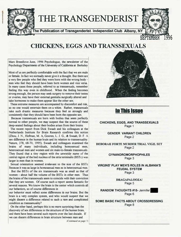 Download the full-sized PDF of The Transgenderist (September, 1996)