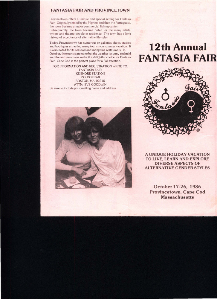 Download the full-sized PDF of 12th Annual Fantasia Fair Brochure (Oct. 17 - 26, 1986)