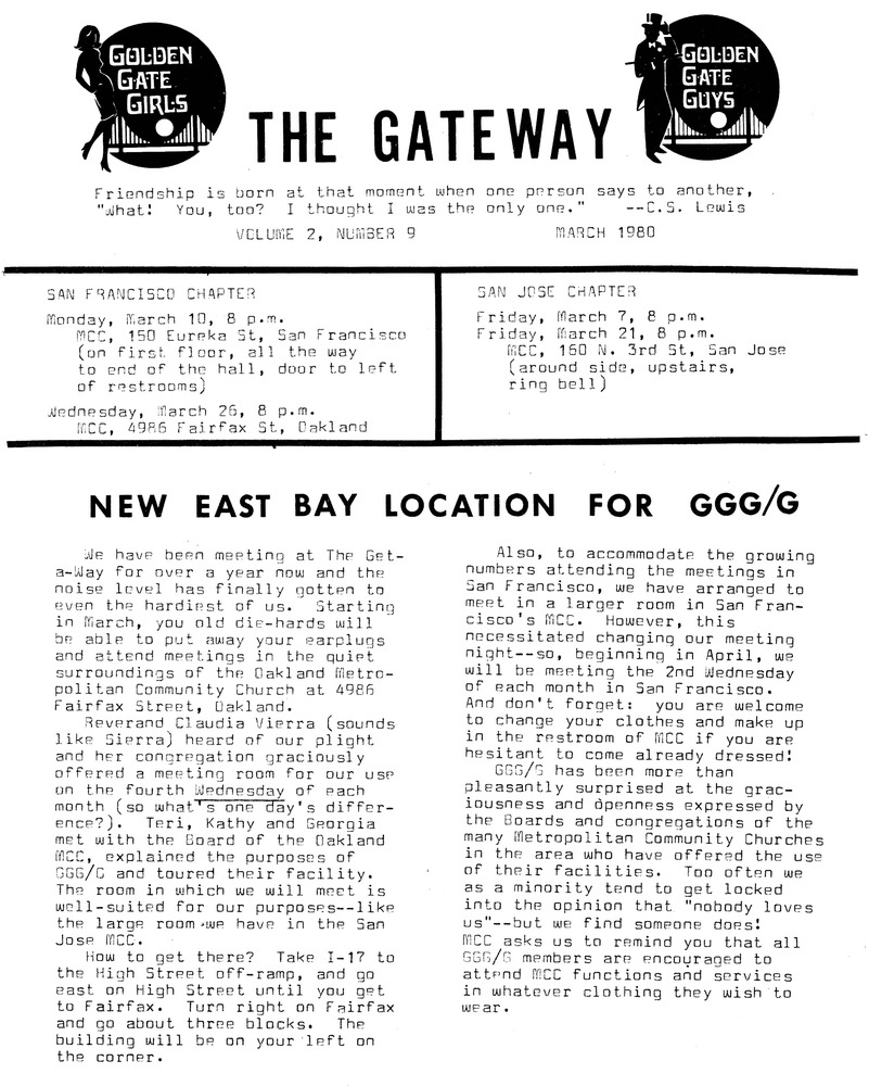 Download the full-sized PDF of The Gateway Vol. 2 No. 9 (March, 1980)