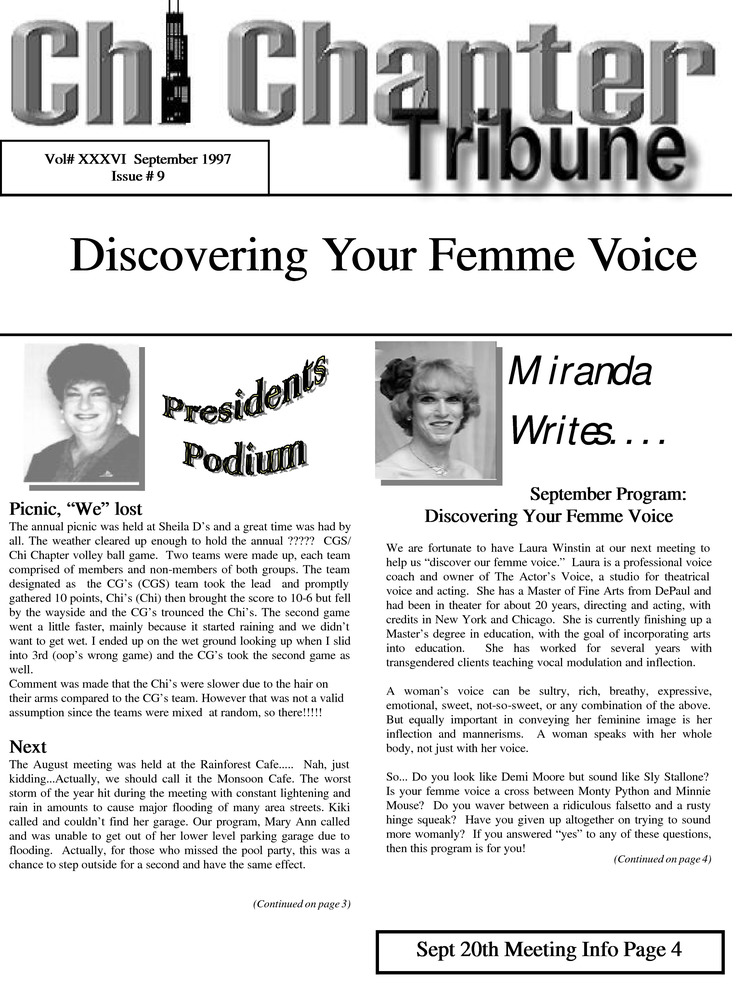 Download the full-sized PDF of Chi Chapter Tribune Vol. 36 Iss. 09 (September, 1997)